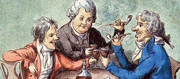 Die Aufhebung des öffentlichen Rauchverbotes war eine zentrale Forderung der bürgerlichen Revolution von 1848