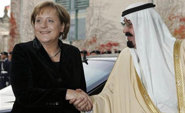 Leichenschänder Abdullah zu Besuch bei Frau Merkel