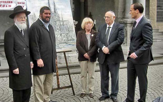 Erinnerung an Köln: Eine politisch nicht genehme Delegation aus Israel durfte nur vor der Rathaustür empfangen werden