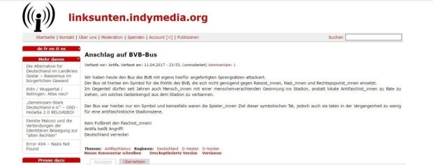 Dortmund Bekennerschreiben